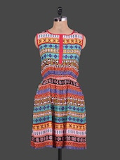 Ethnic Print Sleeveless Dress - URBAN RELIGION