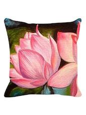 Pink Lotus Cushion Cover - Leaf Designs