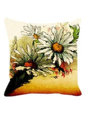 Arty Multicolored Floral Cushion Cover - Leaf Designs