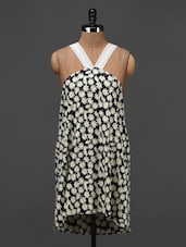 Floral Printed Sleeveless Shift Dress - NUN