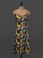Multicolor Floral Printed Sleeveless Dress - NUN
