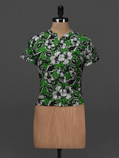 Floral Printed Short Sleeve Top - NUN