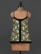 Floral Printed Camisole Neck Top - NUN