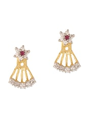 Metal Alloy Cubic Zirconia Studded Earrings - Sixmeter Jewels