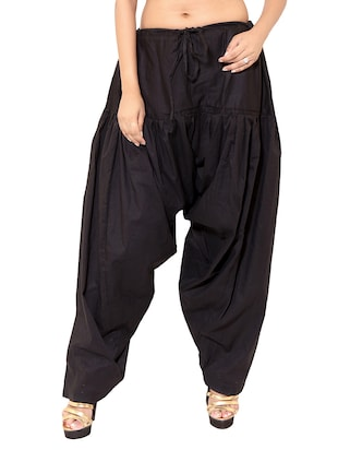 black cotton patiyala salwars - 11119993 - Standard Image - 5