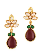Fancy Polki Drop Earrings - Sixmeter Jewels