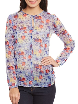 Multicoloured printed top
