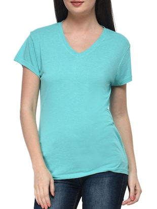 blue viscose top