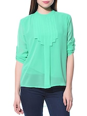 green georgette regular top -  online shopping for Tops