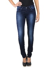 Washed Indigo Color Women's Jeans - LESLEY