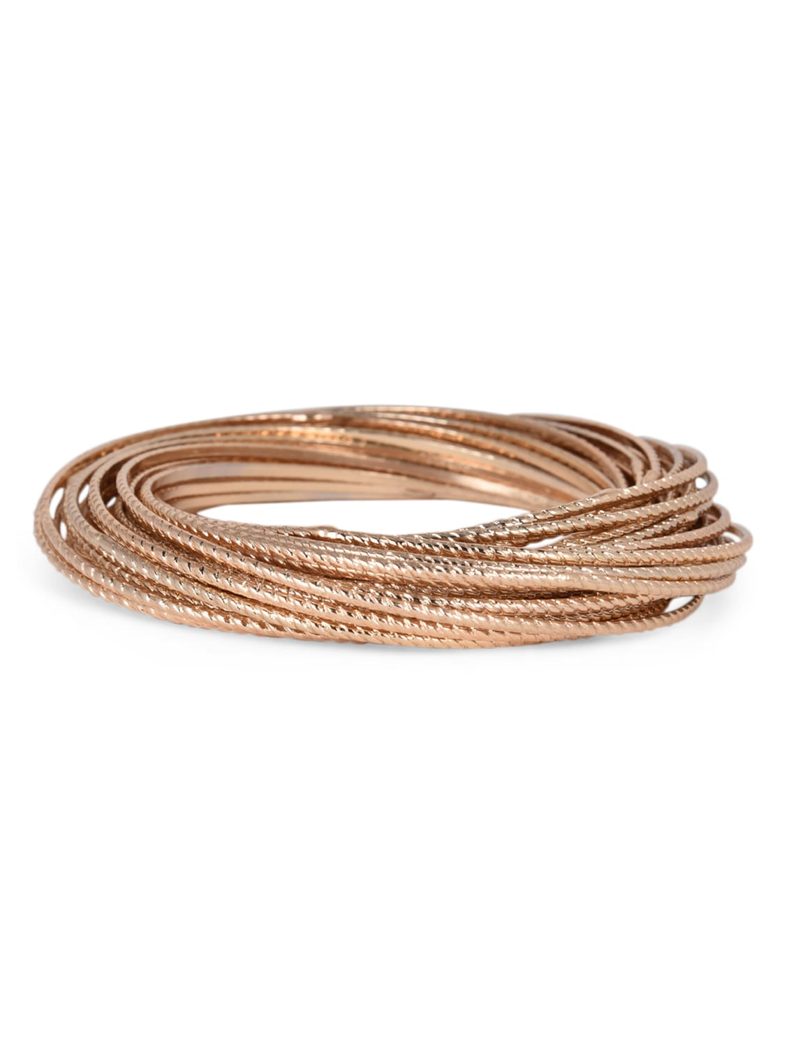 Rose Gold Metal Bangles - By