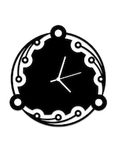 Circle In Circles Black Wall Clock - Osaree