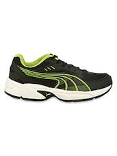 Green Detailed Black Sports Shoes - PUMA