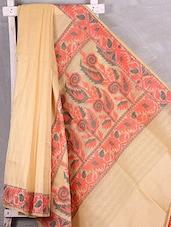Bordered Woven Cotton Blend Kota Saree - Komal Sarees