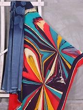Abstract Print Pallu Crepe Saree - Komal Sarees