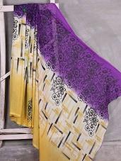 Floral Print Border Chiffon Saree - Komal Sarees
