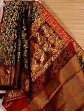 Multicoloured Zari Embroidered Art Silk Saree - Dharitri's Choice