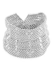 Silver Metallic Broad Bracelet - By
