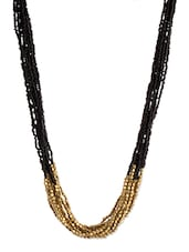 Black Beaded Multilayered Necklace - Voylla - 1116821