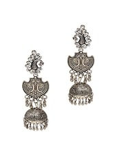 Silver Plated Drop Earring - By