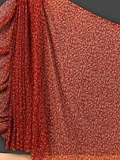 Sheer Leaf Printed Art Silk Saree - Nanda Silk Mills