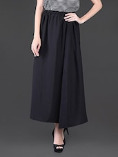 Poly Crepe Checks Printed Sleeveless Top & Solid Long Skirt - Klick2Style