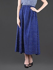Poly Crepe Checks Printed Sleeveless Top & Polka-Dots Printed Long Skirt - Klick2Style