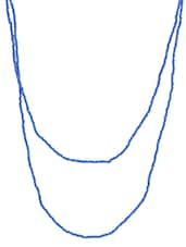Blue Beaded Long Necklace - By