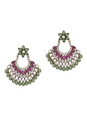Multicolor Beaded Drop Earrings - Honey Collections- By Aryan