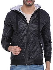 black nylon casual jacket -  online shopping for Casual Jacket