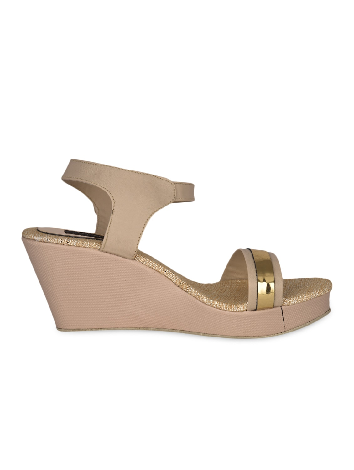 Open Toe Buckle Closure Wedges - Just Wwow