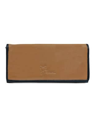 Tan pure leather wallet