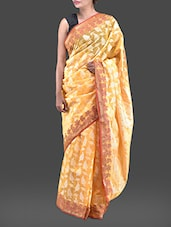 Yellow Jacquard Chanderi Cotton Banarasi Saree - Bunkar