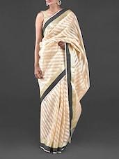 Beige Chanderi Cotton Saree - Bunkar