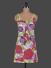 Sleeveless Floral Printed Cotton Drees - Glam And Luxe