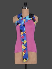 Halter Neck Geometric Printed Viscose Top - Glam And Luxe