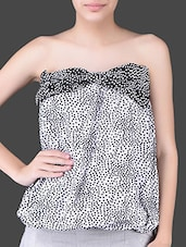 Polka Dots Printed Polyester Tube Top - Glam And Luxe