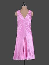 Sleeveless Glossy Polyester Maxi Dress - TRENDY DIVVA