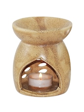 Sand Brown Ceramic Aroma Oil Diffuser - Brahmz