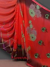 Floral Printed Half & Half Saree - Shrimatiji Sarees