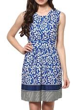 Printed Sleeveless Round Neck Cotton Dress - ABITI BELLA