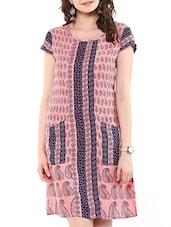 pink rayon a-line dress -  online shopping for Dresses