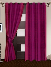 Pink Printed Polyester Door Curtains (Set Of 2) - Story @ Home