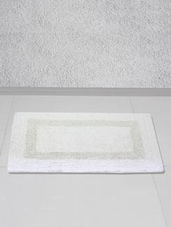 White Polyester One Piece Door Or Bath Mat - Story @ Home