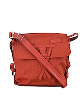 Flap Folding Leatherette Sling Bag - Baggit
