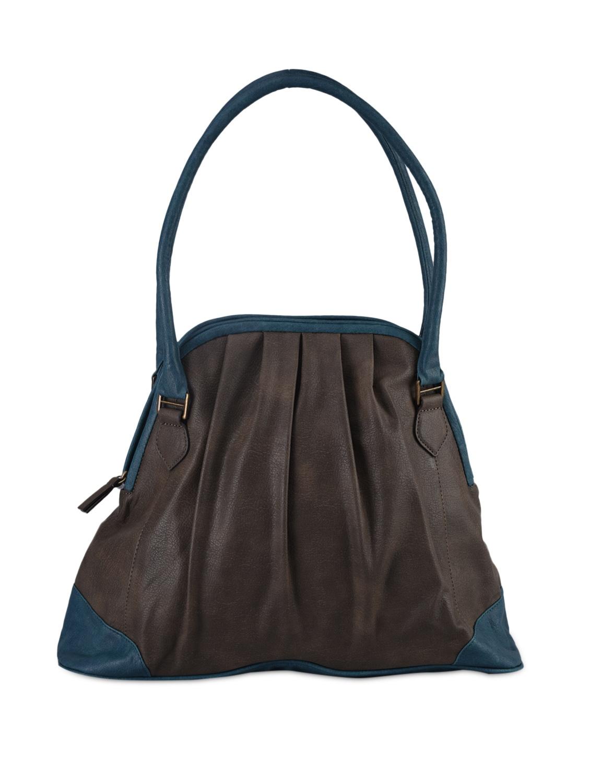 Color Block Printed Leatherette Bag - Baggit