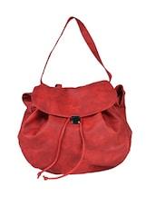 Leatherette Handbag Cum Mini Backpack - Baggit