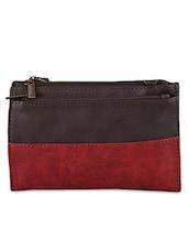 Color Block Leatherette Sling Bag - Baggit