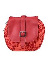 Printed Leatherette Sling Bag - Baggit