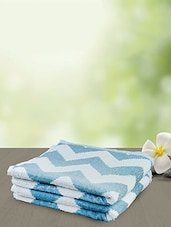 blue and white cotton hand towel -  online shopping for towels